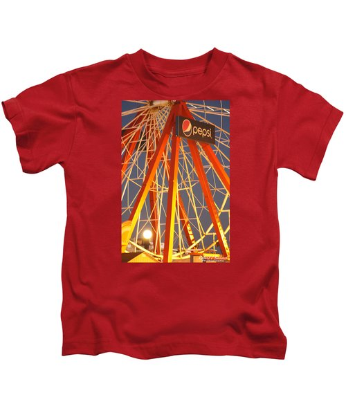 Moon And The Ferris Wheel Kids T-Shirt