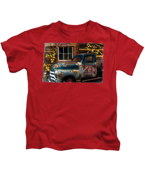 Moonshine Express Bordered Kids T-Shirt