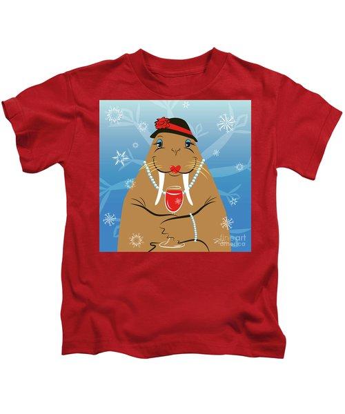 Mrs. Walrus Kids T-Shirt