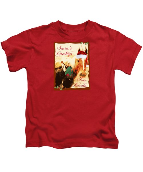 Nevada Greetings Kids T-Shirt by Bobbee Rickard