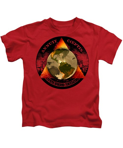 New World Order By Pierre Blanchard Kids T-Shirt by Pierre Blanchard