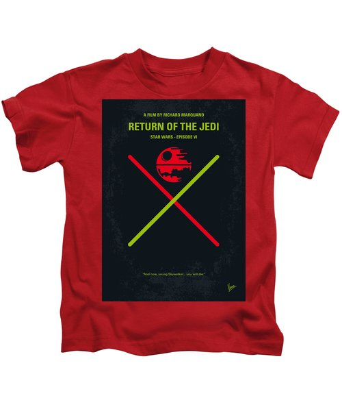 No156 My Star Wars Episode Vi Return Of The Jedi Minimal Movie Poster Kids T-Shirt