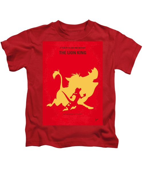 No512 My The Lion King Minimal Movie Poster Kids T-Shirt by Chungkong Art