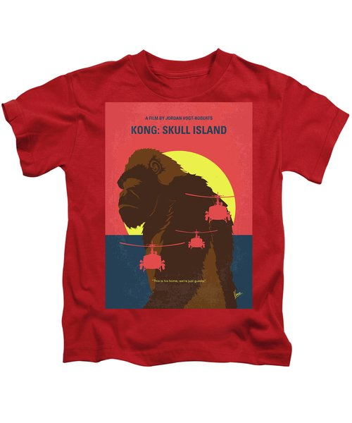 No799 My Skull Island Minimal Movie Poster Kids T-Shirt