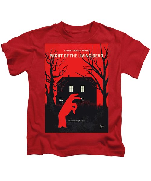 No935 My Night Of The Living Dead Minimal Movie Poster Kids T-Shirt