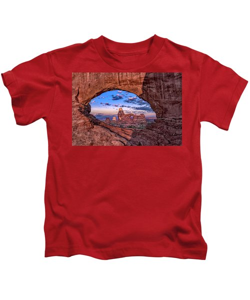 North Window At Sunrise Kids T-Shirt