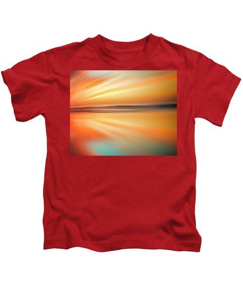 Ocean Beach Sunset Abstract Kids T-Shirt