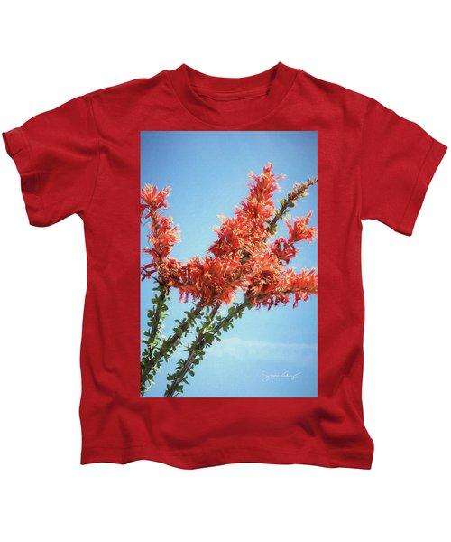 Ocotillo In Bloom Kids T-Shirt