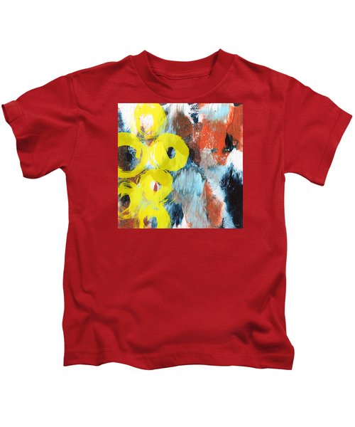 October- Abstract Art By Linda Woods Kids T-Shirt
