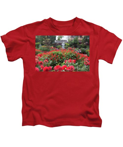 Oil Digital Flowers Vietnam  Kids T-Shirt