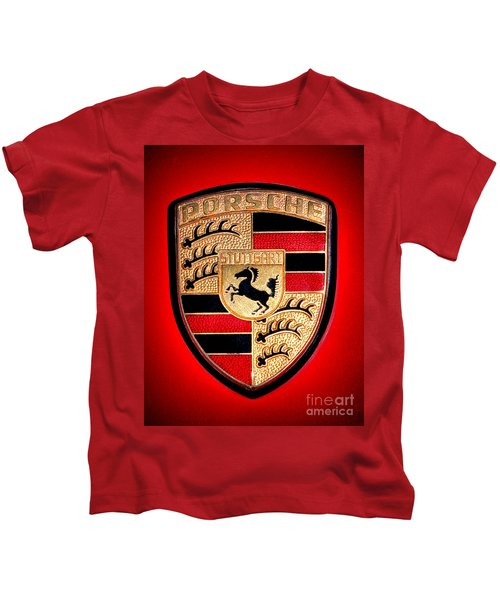 Old Porsche Badge Kids T-Shirt