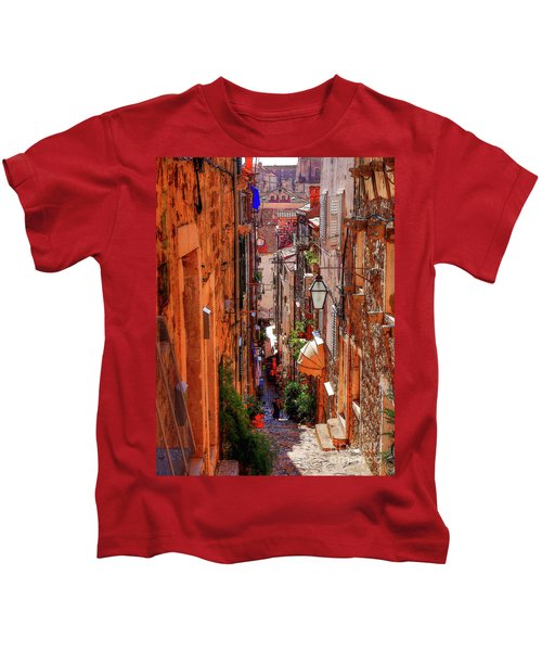 Old Town Dubrovniks Inner Passages Kids T-Shirt