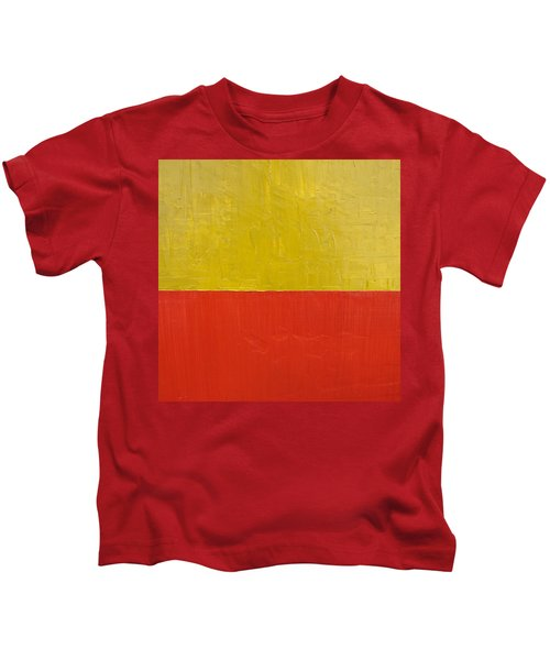 Olive Fire Engine Red Kids T-Shirt