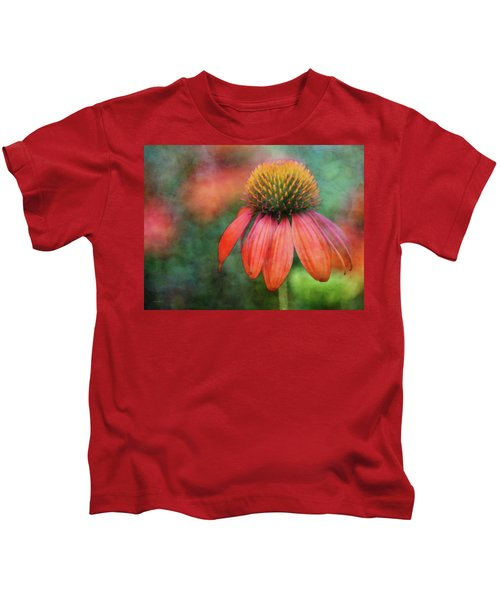 Orange Coneflower 2576 Idp_2 Kids T-Shirt