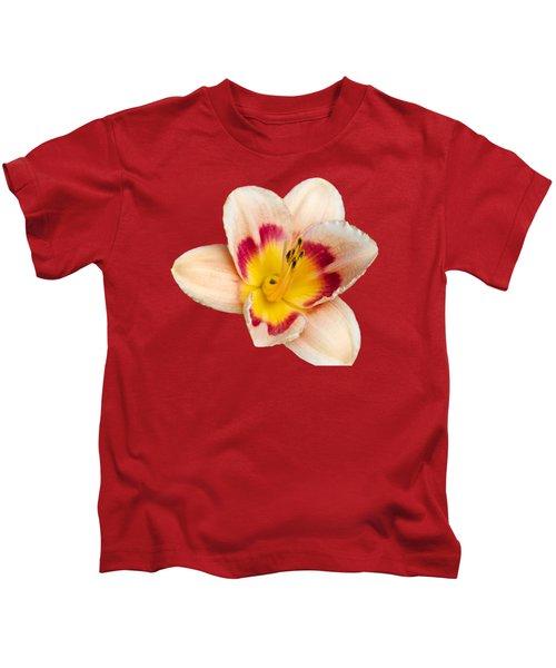 Orange Yellow Lilies Kids T-Shirt by Christina Rollo