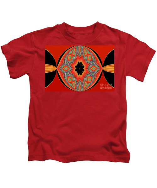 Unique And Colorful Orange Black Yellow Design Kids T-Shirt