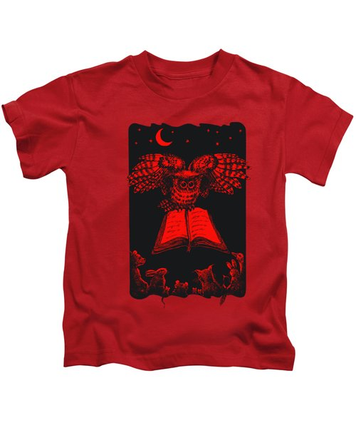 Owl And Friends Redblack Kids T-Shirt