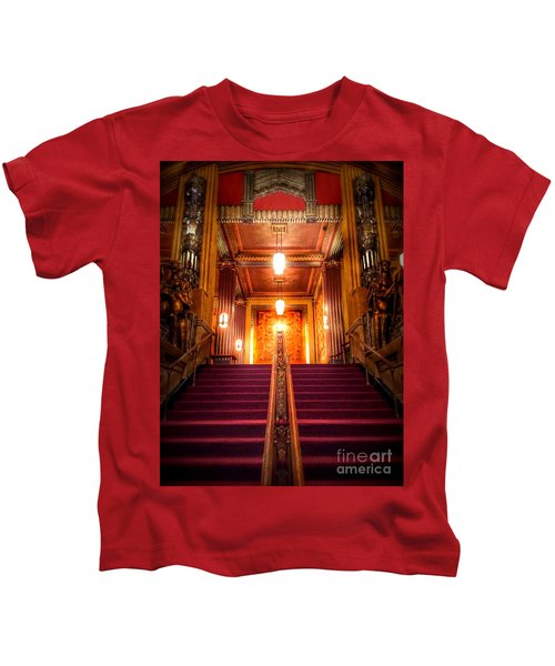 Pantages Theater's Grand Staircase Kids T-Shirt