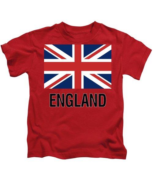Parchment Flag England Kids T-Shirt