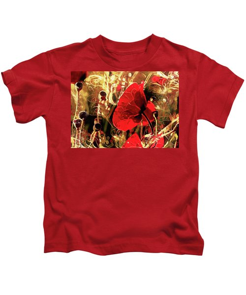 Passionate About Poppies Kids T-Shirt