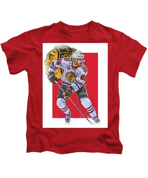 Patrick Kane Chicago Blackhawks Oil Art Series 2 Kids T-Shirt
