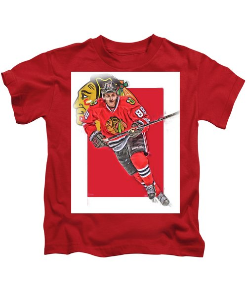 Patrick Kane Chicago Blackhawks Oil Art Series 3 Kids T-Shirt