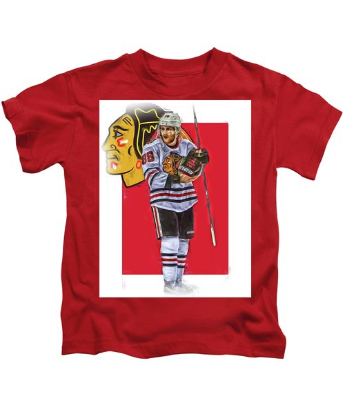 Patrick Kane Chicago Blackhawks Oil Art Series 4 Kids T-Shirt