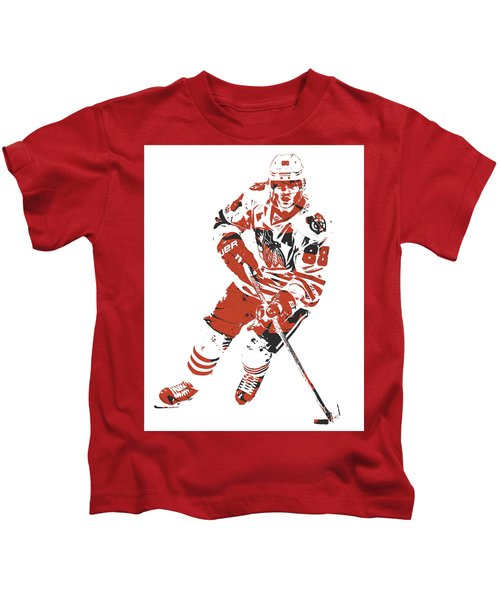 Patrick Kane Chicago Blackhawks Pixel Art 1 Kids T-Shirt