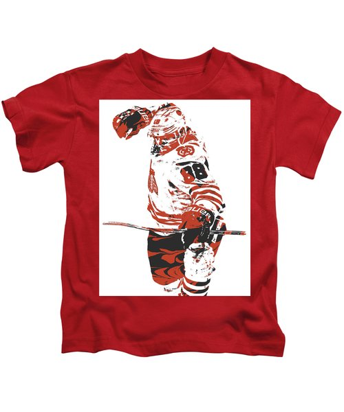 Patrick Kane Chicago Blackhawks Pixel Art 2 Kids T-Shirt