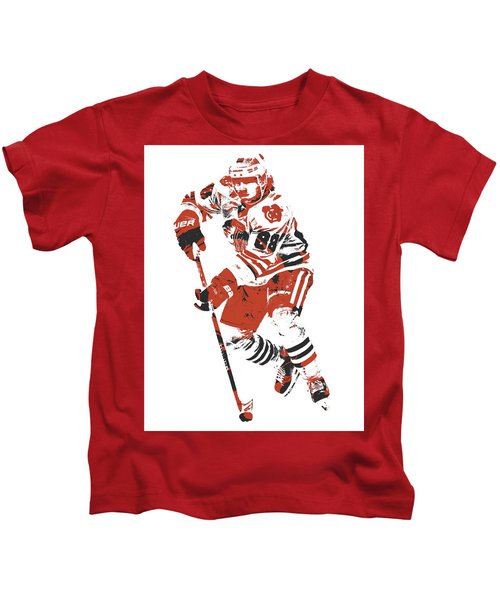 Patrick Kane Chicago Blackhawks Pixel Art 4 Kids T-Shirt