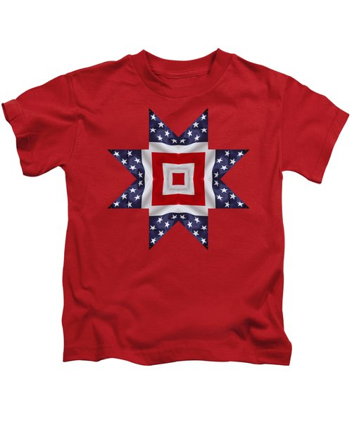 Patriotic Star 1 - Transparent Background Kids T-Shirt