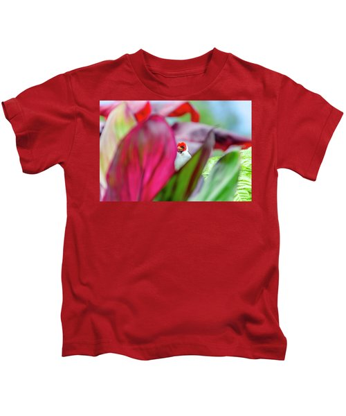 Peeking Between The Leaves Kids T-Shirt
