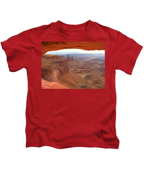 Peering Out 2 Watercolor Kids T-Shirt