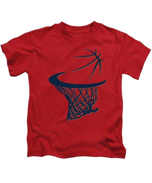Pelicans Basketball Hoop Kids T-Shirt by Joe Hamilton