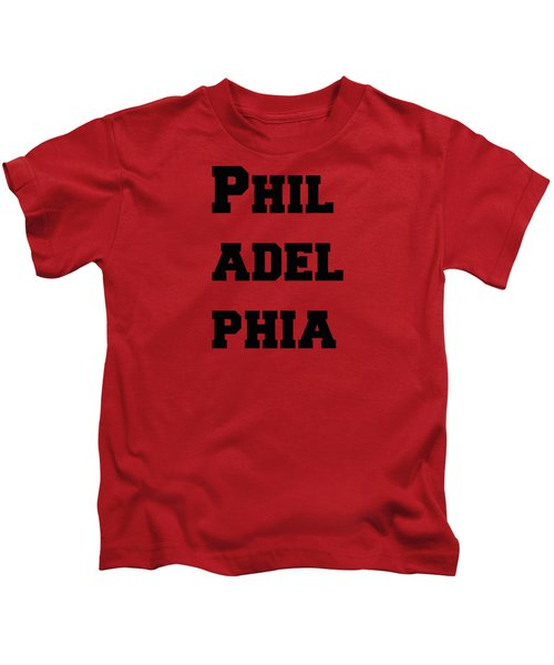 Philadelphia In Pink Kids T-Shirt