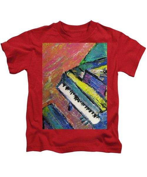 Piano With Yellow Kids T-Shirt