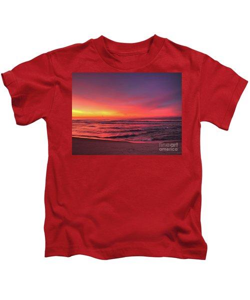 Pink Lbi Sunrise Kids T-Shirt