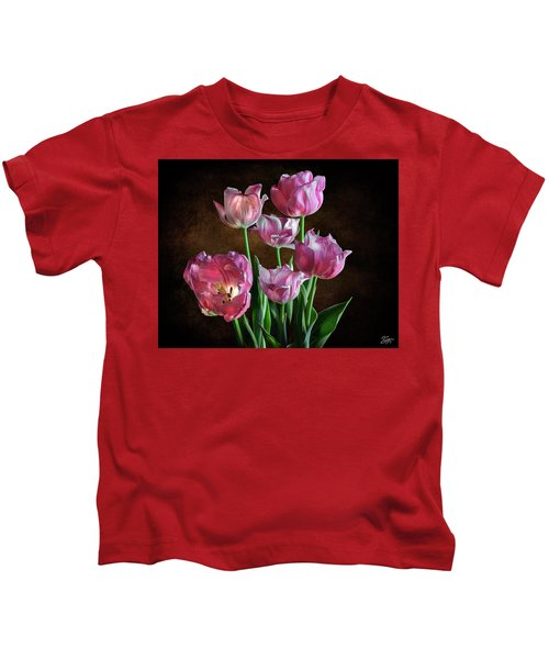 Pink Tulips Kids T-Shirt