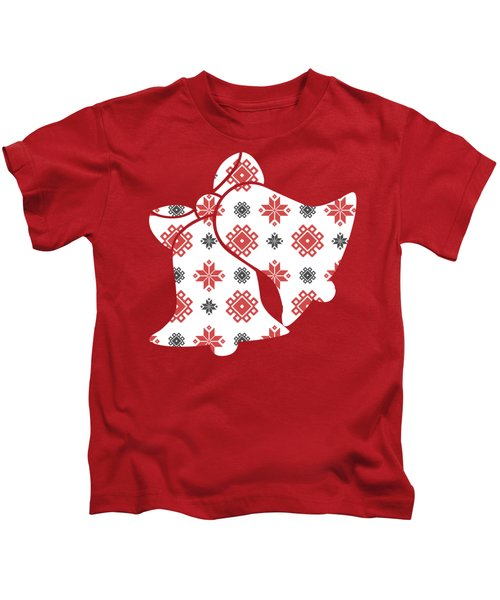 Pixel Christmas Pattern Kids T-Shirt
