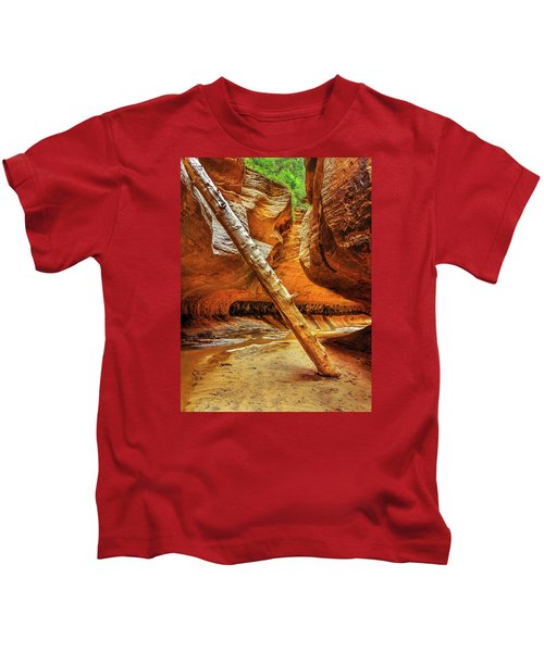 Pointing The Way Portrait Kids T-Shirt