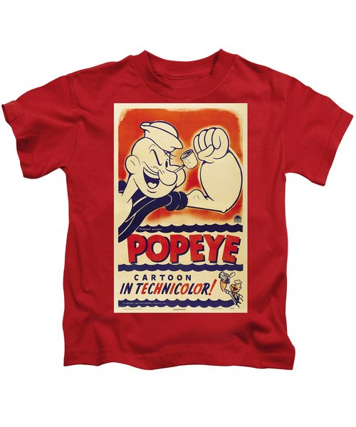 Popeye Technicolor Kids T-Shirt