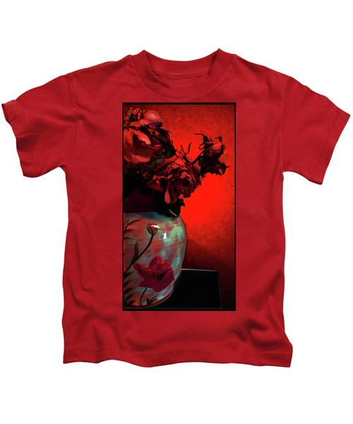 Poppies And Roses Kids T-Shirt
