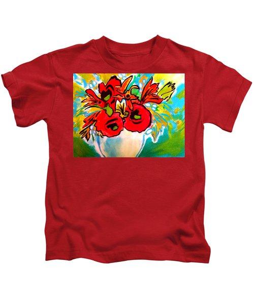 Poppy Bouquet Reworked Kids T-Shirt