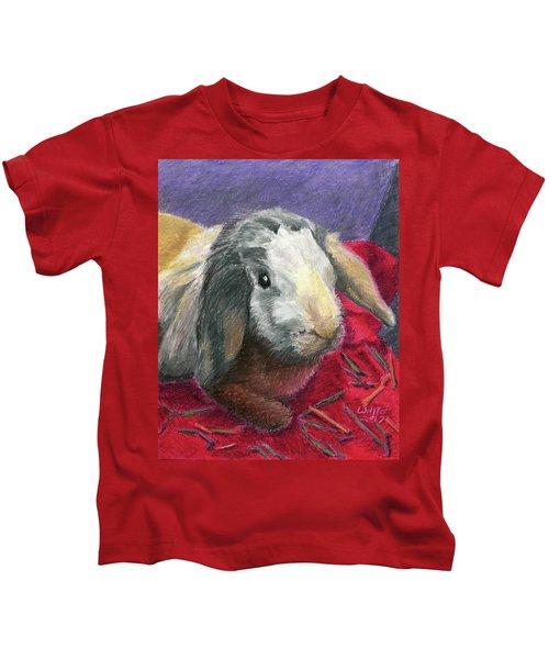 Portrait Of A Bunny Kids T-Shirt