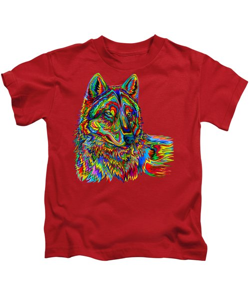 Psychedelic Wolf Kids T-Shirt