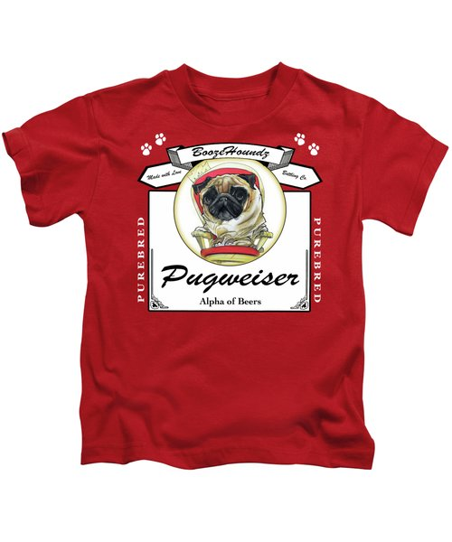 Pugweiser Beer Kids T-Shirt
