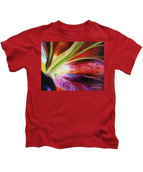Purple Lily Kids T-Shirt