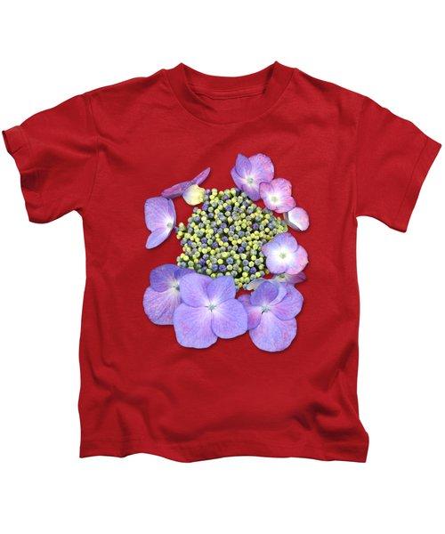 Purple Pods Sehemu Mbili Unyenyekevu Kids T-Shirt