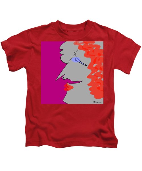 Purple Stache Kids T-Shirt