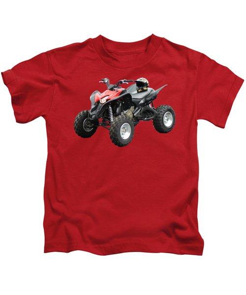 Quad Bike And Helmet Kids T-Shirt